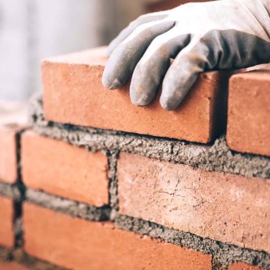 Enkelt murstensvæg