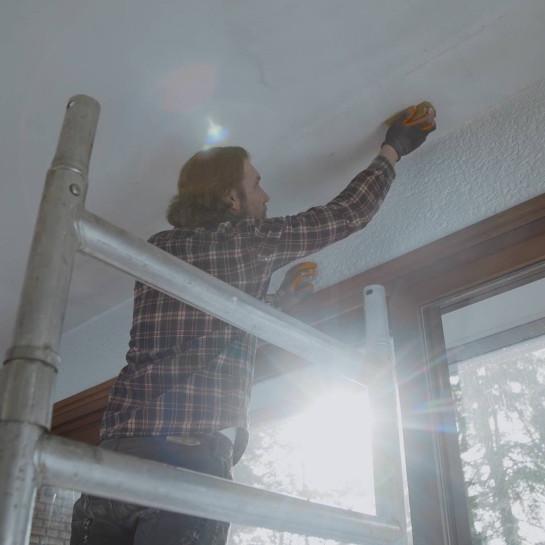 Binnenmuur en plafond verven